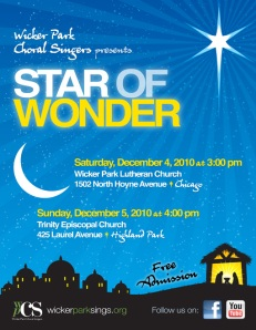 Wicker Park Choral Singers Presents Star of Wonder