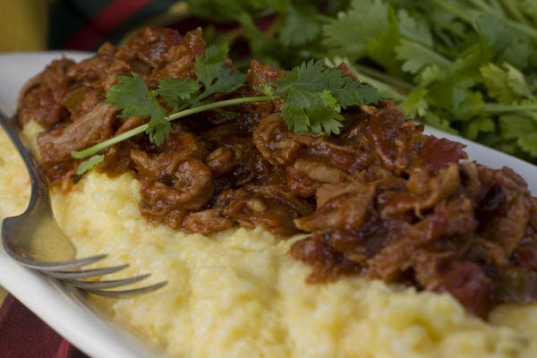 Pulled pork and polenta recipe